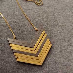 Madewell Arrowstack Vintage Gold Necklace